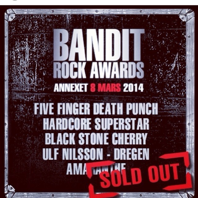 The @banditrock awards is sold out!!! Would be awesome if we won a prize, so make sure to vote your behinds off!!!! Http://rockawards.bandit.se/vote #banditrockawards #sirreg #sirregband