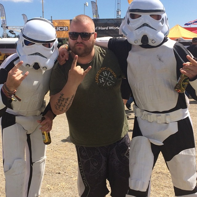 Erik hooked up with a couple of storm troopers on #swedenrock !