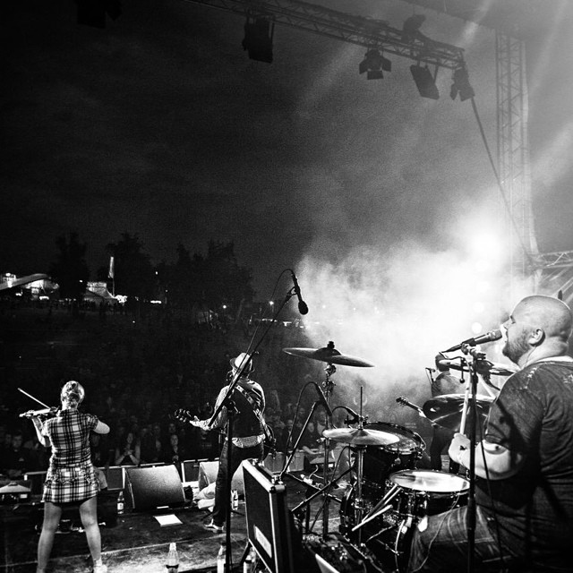 The view from the #4soundstage at #swedenrockfestival m/ #sirreg
