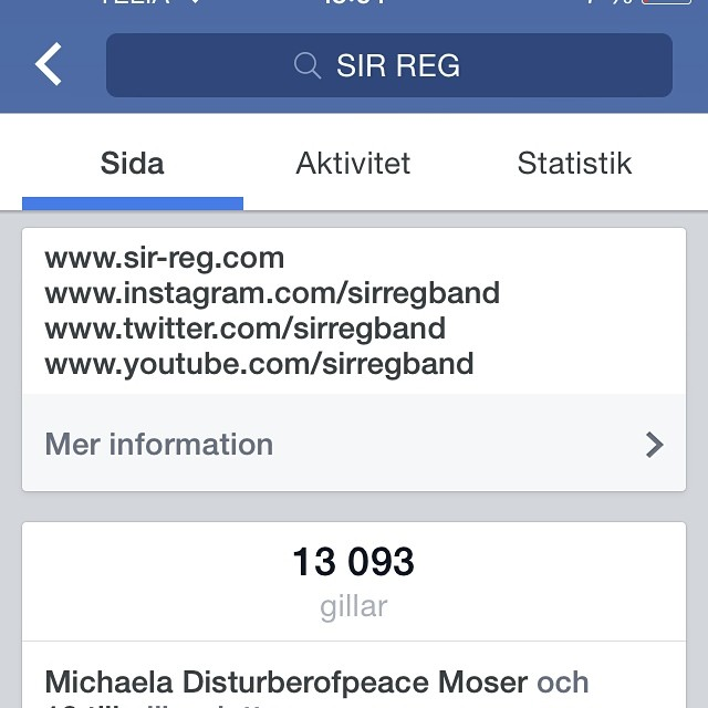 I just had a look at our Facebook page.... My gosh!! We've reached 13.000 likes!!!!! Thank you so much!! m/ #sirreg