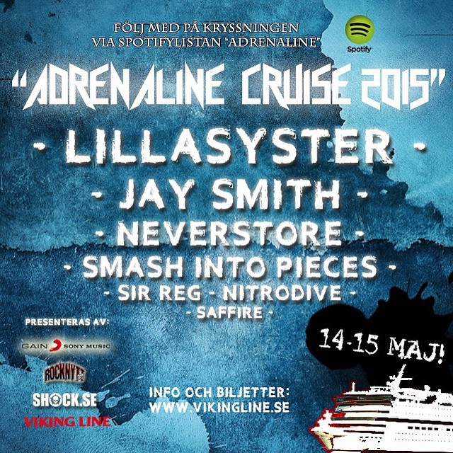 Tomorrow's the day!! Can't wait!!! You should all tag along! #sirreg #adrenalinecruise