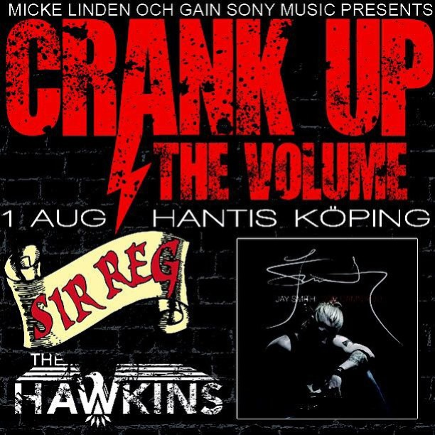 It's been a while since last time we played in our home town! But this is about to change! On the first of August we'll bring the party to Hantis in Köping! With us we have our dear friend, Swedish Idol winner and label mate @jaysmithofficial and our friends in @thehawkinsband who just happens to be one of the best bands there is! You do not want to miss this!!! #sirreg