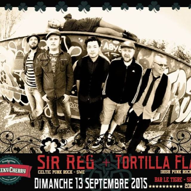 SIR REG + TORTILLA FLAT m/ #sirregband #tour15 #germany #france #celticpunk #music